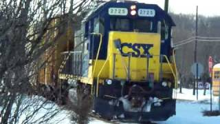 Conrail & CSX at General Mills Spur & Elmer Rd. Crossing on Vineland Secondary, Vld, NJ - 02-19-2010