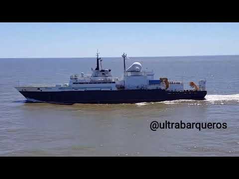 "Russian Search & Rescue Ship ""YANTAR"" /Tanker CABO PILAR #PuntaIndioChannel #RioDeLaPlata 12.03.2018"