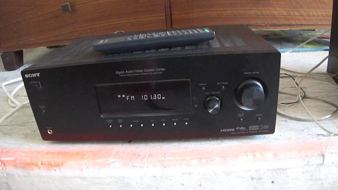 Amp Wiring Diagram Sony Str Dh520 Schematics Dg520 Multi Channel Av Receiver Youtube 71