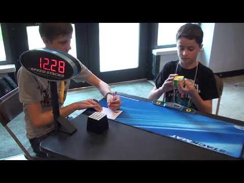 Josh Blatt Solves 2x2 Rubik's Cube Spring 2012