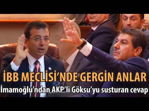 İBB Meclisi'nde Ekrem İmamoğlu'ndan AK Partili Göksu'yu susturan cev