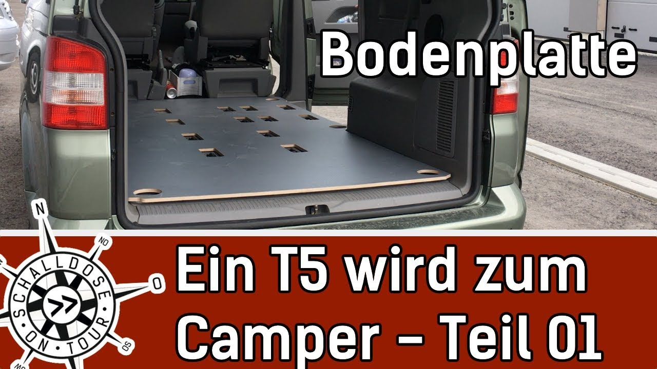 umbau 01 ein vw t5 wird zum camper bodenplatte. Black Bedroom Furniture Sets. Home Design Ideas