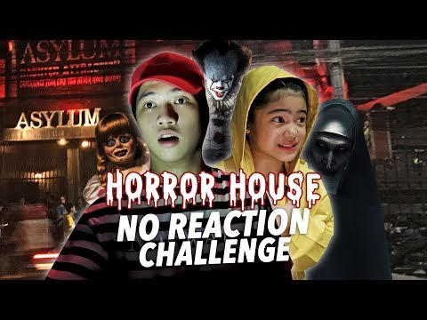 Horror House No Reaction Challenge!! | Ranz and Niana