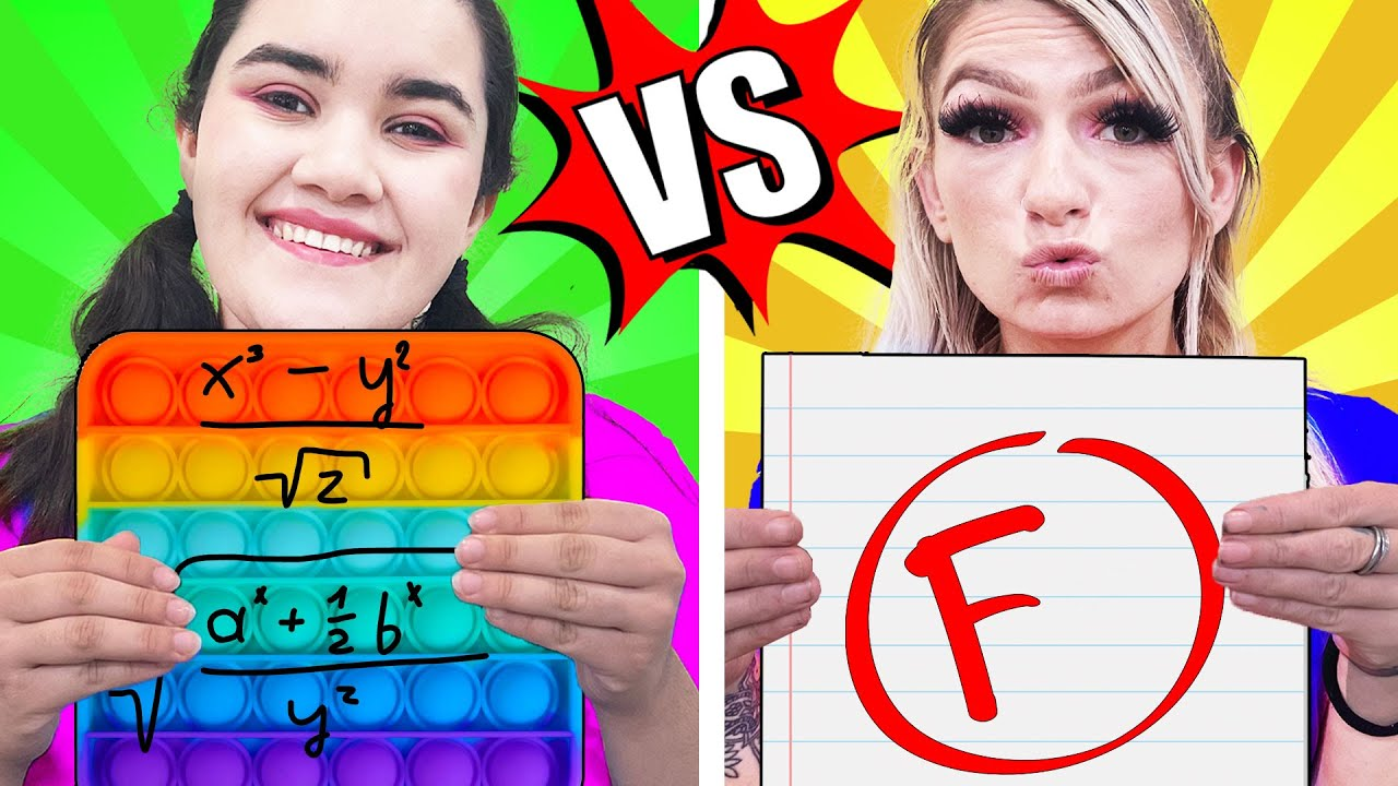 LUCKY GIRL VS UNLUCKY GIRL | FUNNY AWKWARD SITUATIONS | STUCK IN SCHOOL FOR 24 HOURS BY CRAFTY HACKS