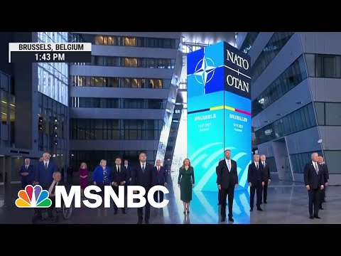 World Leaders Pose For NATO Summit Family Photo   MSNBC