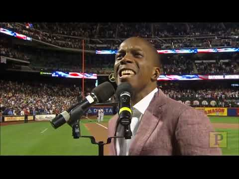 Leslie Odom, Jr. sings the National Anthem