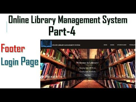 Library Management System Part-4  | Footer & Sign In| HTML,CSS,PHP,my SQL