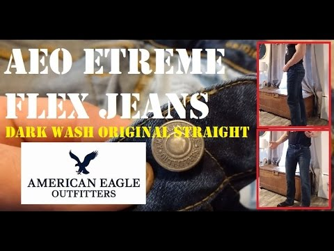 Dark Wash AEO 360 EXTREME FLEX ORIGINAL STRAIGHT JEAN American Eagle