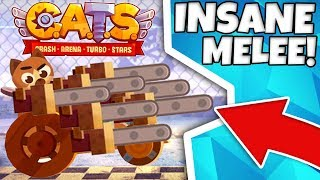 THE MOST OVERPOWERED MELEE BUILD EVER!? | CATS: Crash Arena Turbo Stars