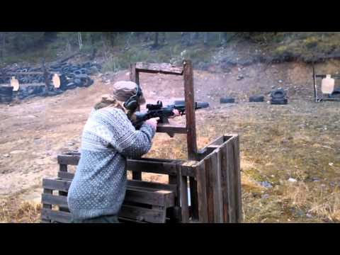 Heidi shooting an AK-103