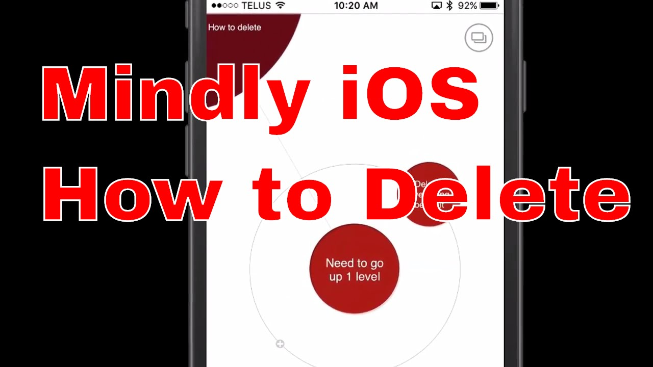 Mindly Ios How To Delete Nodes, Topics, And Maps