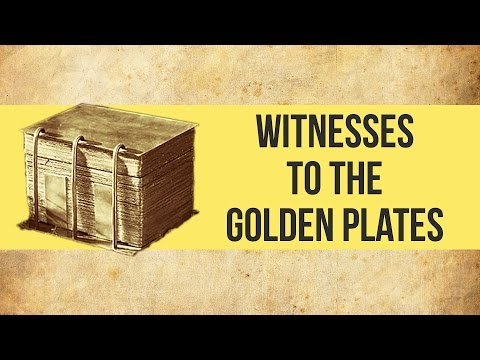 Witnesses to the Golden Plates  Mormon Facts
