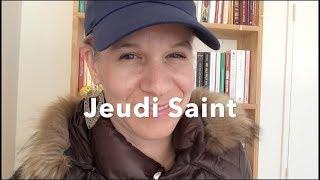 Jeudi Saint qu'est-ce que c'est ? Avec Sylvie On LIVE
