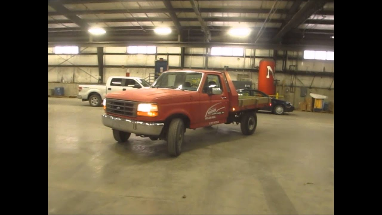 F250 Flatbed For Sale >> 1994 Ford F250 flatbed truck for sale | sold at auction April 30, 2014 - YouTube