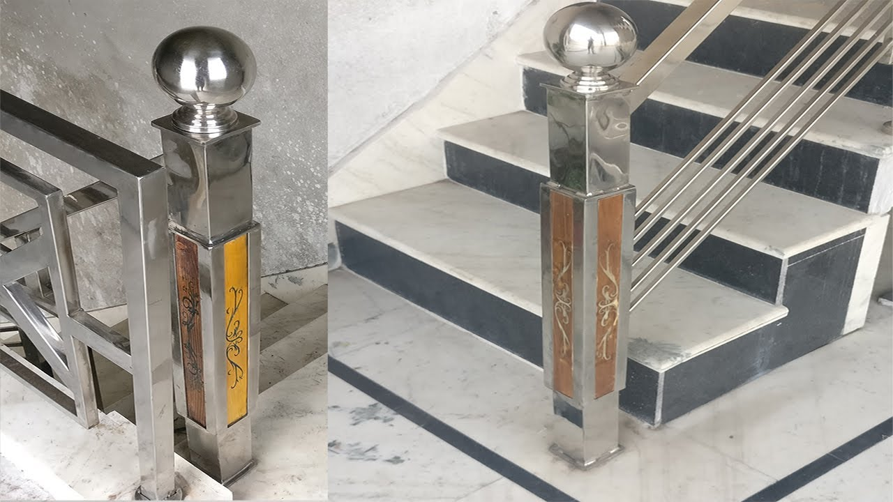 DIY Stainless Steel Post Build For Stairs   (Part 1)