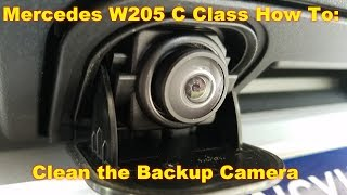 How to clean the backup camera on your W205 C Class Mercedes.