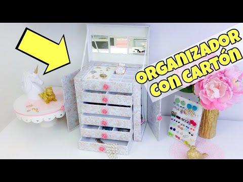 Organizador de cartón/manualidades con reciclaje*manualidades originales