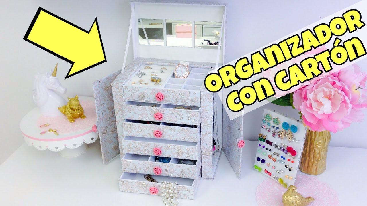 Organizador de cart n manualidades con reciclaje for Cosas para casa originales