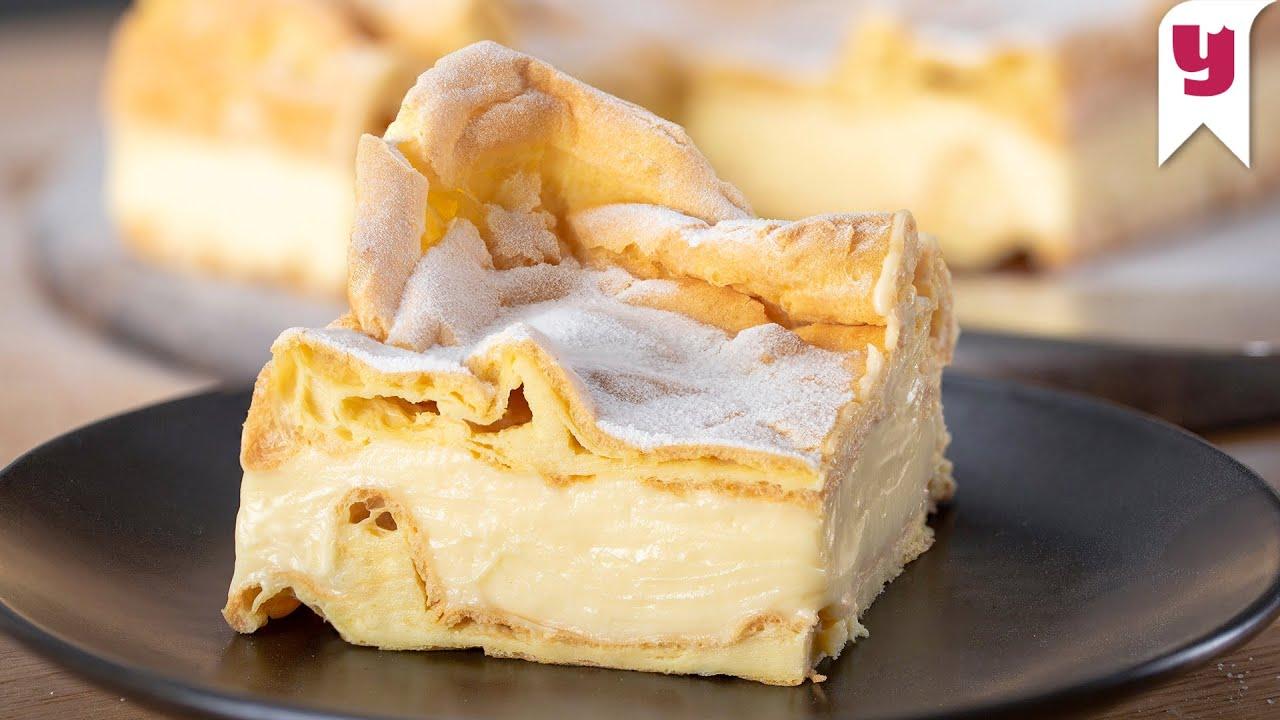 Her Mutfakta Olan Malzemelerle Polonya'nın Meşhur Karpatka Pastası Tarifi - Tatlı Tarifleri
