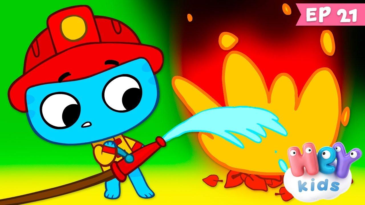 Kit și Keit : În focul distracției - Desene animate cu pompieri | HeyKids