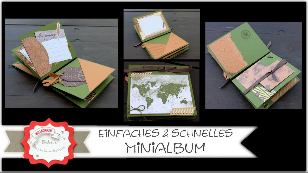 Minialbum basteln - einfach und schnell - Querformat oder Hochkant - Stampin´Up! - Anleitung - DIY