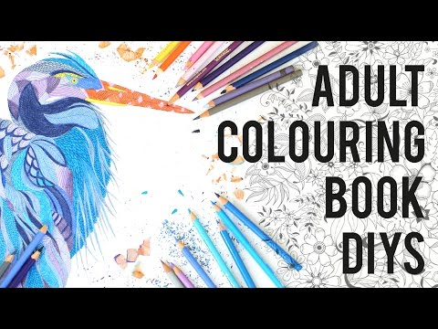 ADULT COLOURING BOOKS/ ART THERAPY DIYS + TIPS | THE SORRY GIRLS