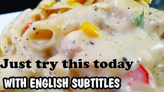 White Sauce Pasta Recipe l Chicken Pasta Recipes l Penne Pasta Cooking with Benazir