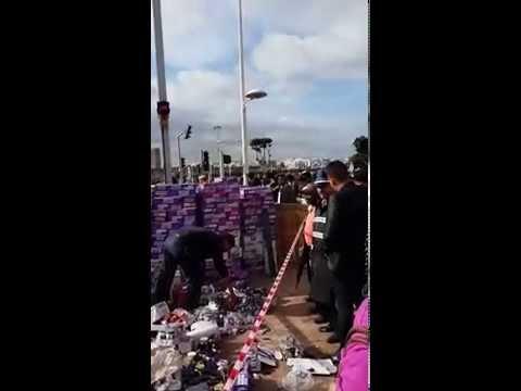 إصطدام بين شاحنة والترمواي بسلا + فيديو