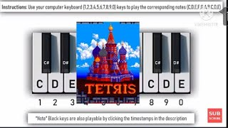 YouTube Piano Play It With Your Computer Keyboard (Tetris)