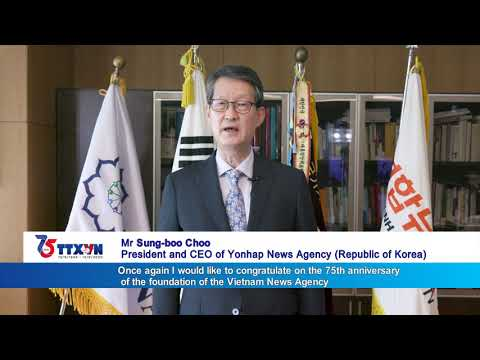 Yonhap news agency congratulates Vietnam News Agency on 75th founding day