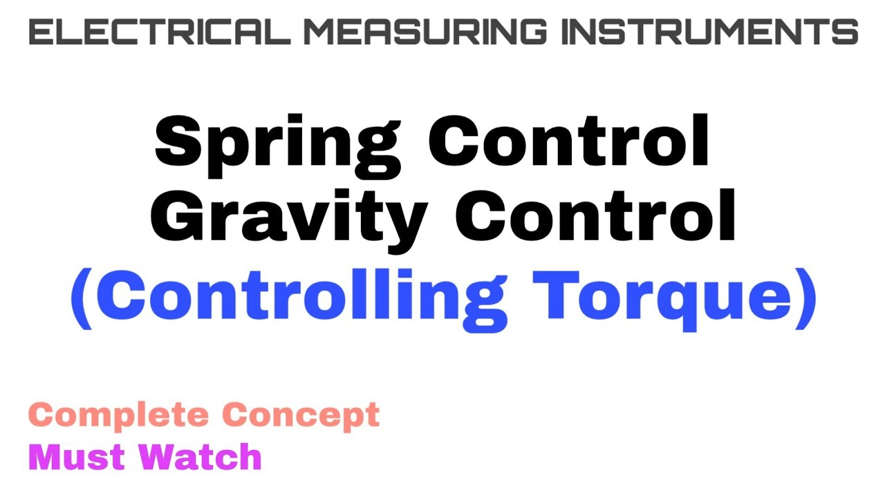 3 Spring And Gravity Control Controlling Torque Complete Concept Youtube,Bathroom Tile Flooring Designs
