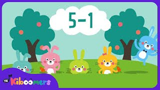 Five Little Bunnies | Easter Bunny Song for Children | Hippity Hop Song for Kids