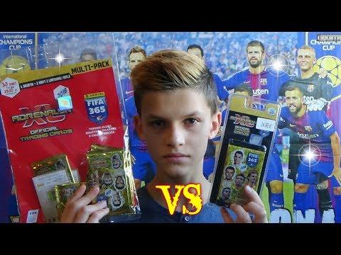 MEGA POJEDYNEK Multipack vs Blister Panini FIFA 365 2018 - Unboxing!!!