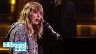 Jimmy Fallon Returns to 'Tonight Show,' Taylor Swift Performs 'New Year's Day' | Billboard News