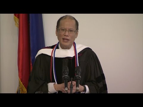 President Benigno Aquino III Honorary Degree Ceremony