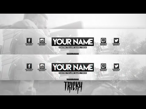 Free Clean Non-Themed Gaming Banner Template (+Profile Picture) (Photoshop)