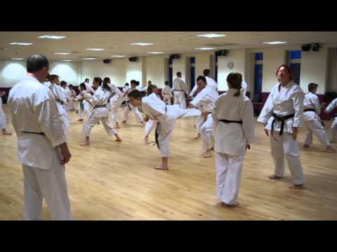 Training with Sensei Frank Brennan - kumite