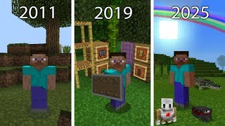 La Historia de Minecraft Pocket Edition | 2011 - 2025 | Versiones Futuras!