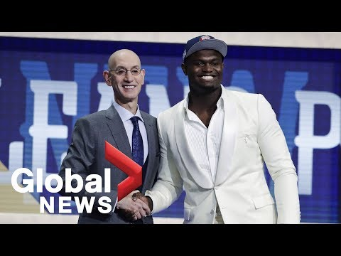 2019 NBA Draft reaction at the Barclays Center in Brooklyn, New York