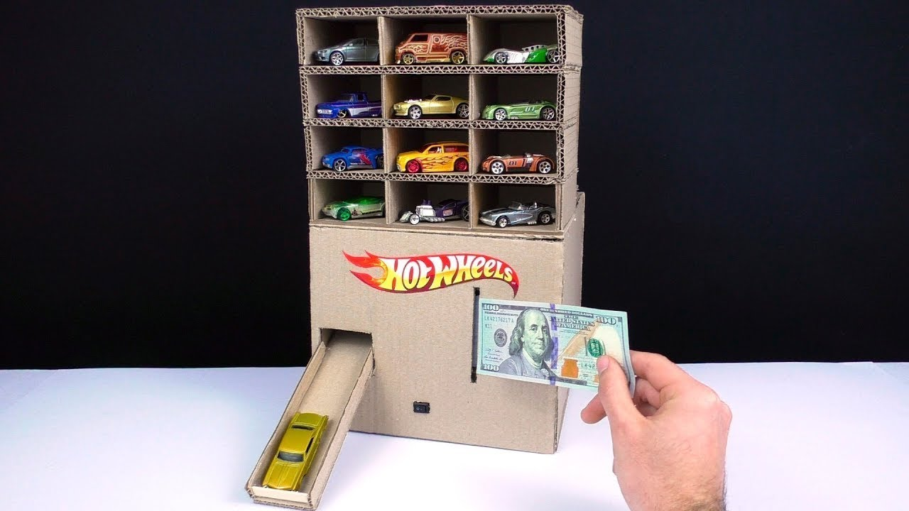 Download How To Make Hot Wheels Car Vending Machine THAT REQUIRES MONEY!