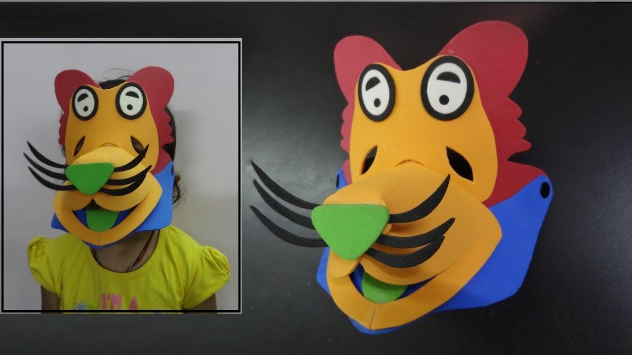 Kids Crafts Ideas How To Make Felt Foam Lion Mask Handmade Diy