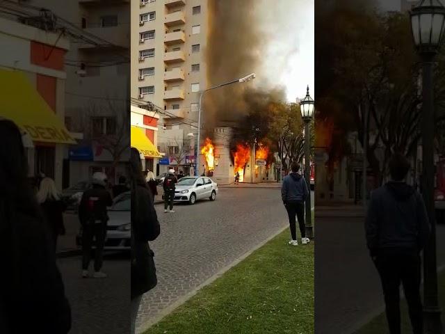 Se incendió Creativa, la esquina de artes y manualidades en Rafaela