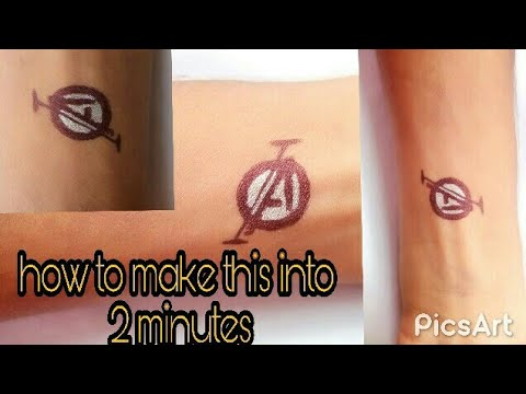 d39b66302 How to draw the simple wrist tattoo . of letter (A) - YouTube