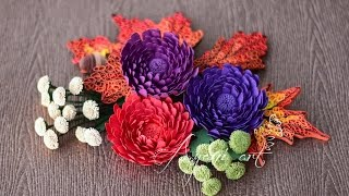 Quilling Tutorial - Chrysanthemum Flowers (Fall Wreath - part 4 of 5)