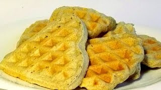 Ржаные Вафли кулинарный видео рецепт(Такие вафли можно приготовить как из чистой ржаной муки, так и из смеси пшеничной и ржаной. На вкус они отлич..., 2014-05-04T03:00:02.000Z)