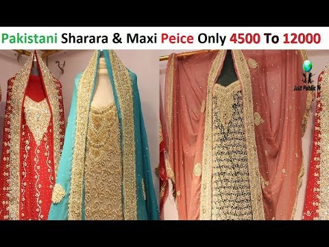 Low Price Pakistani Bridal Sharara And Maxi In Jama Cloth Market