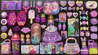 Special Series PURPLE #PRINCESS Frozen || Mixing Beads and Gitter Into Fluffy Slime || Boom Slime