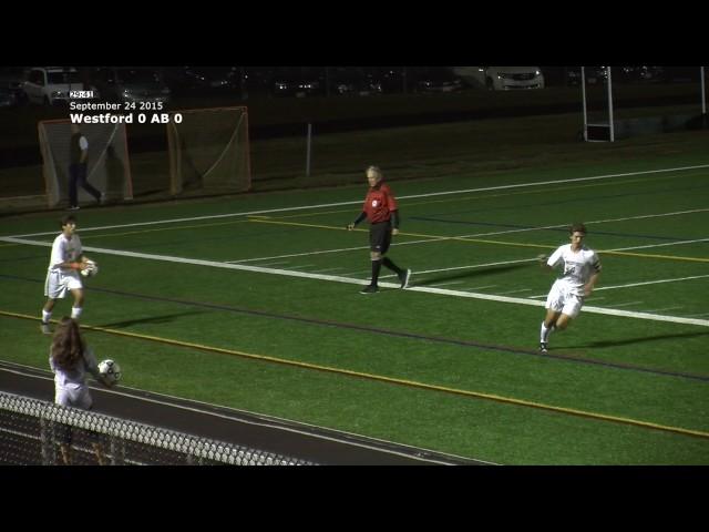 Acton Boxborough Varsity Soccer vs Westford 9/24/15