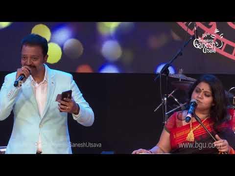 """""""Olave Jeevana Sakshatkara'' By Sangeeta Katti and Badari Prasad @ 58th Bengaluru Ganesh Utsava,2020"""