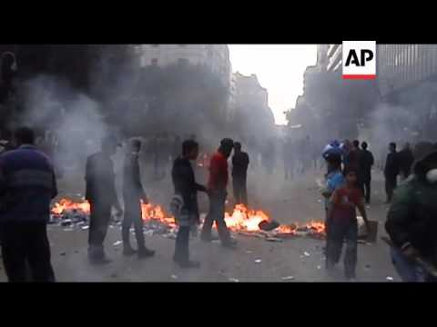 Egypt's military police clash with protesters